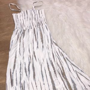 Soft Surroundings size small smocked maxi dress